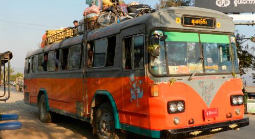 Transporte - viaje yoga Myanamar | Apasho yoga