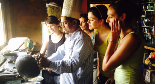 Cocina - viaje yoga India | Apasho yoga